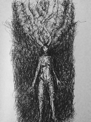 Untitled, 2015. Ballpoint pen on cartridge paper.